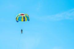 Parasailing and sky blue,Phuket. Parasailing and sky blue,Phuket,Thailand Royalty Free Stock Photos