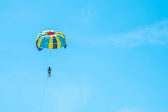 Parasailing and sky blue in Phuket,Thailand. Parasailing and sky blue,Phuket,Thailand Stock Photography