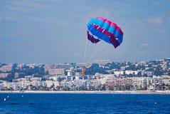 parasailing, sky, daytime, sea, parachute, water, windsports Stock Photos