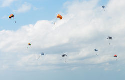Parasailing in the sky Royalty Free Stock Images
