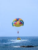 Parasailing in Summer Stock Images