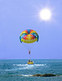 Parasailing in Summer Stock Image