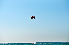 Parasailing in summer . Royalty Free Stock Photos