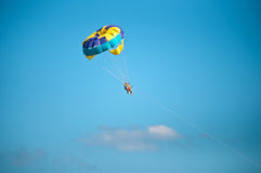 Parasailing in summer . Stock Photos