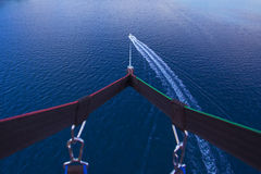 Parasailing in summer on the Adriatic Sea Stock Image