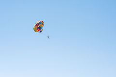 Parasailing summer sport. Parachute and boat Stock Images