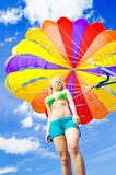 Parasailing On Summer Vacation Royalty Free Stock Photography