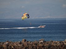 Parasailing Tenerife Στοκ Εικόνες