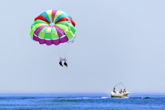 Parasailing on vacation Stock Images
