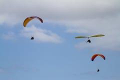 Parasails e Hang Gliders Imagens de Stock
