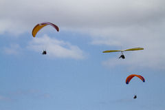 Parasails and Hang Gliders Stock Images