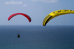 Parasails Over the Ocean Stock Photography