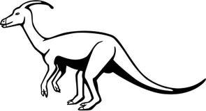 Parasaurolophus иллюстрация вектора