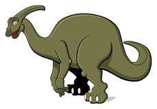Parasaurolophus for children Royalty Free Stock Photos