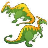 Parasaurolophus. Cute Dinosaurs vector cartoon Parasaurolophus Stock Photos