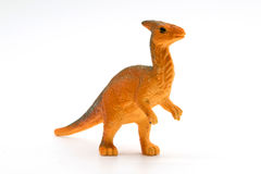 Parasaurolophus dinosaur toy model. On white background Royalty Free Stock Photography
