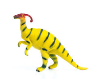 Parasaurolophus  toy on white Stock Photography