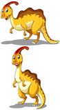 Parasaurolophus in two different poses Stock Photos