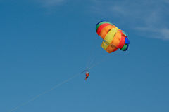 Parascending in Alcudia Royalty Free Stock Photos