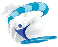 Paraserfing icon Royalty Free Stock Image