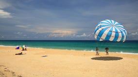 Parashoot on Karon beach in Phuket Royalty Free Stock Photo
