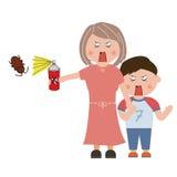 Parasites de ménage Image libre de droits