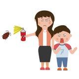 Parasites de ménage Image stock