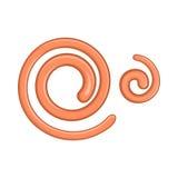 Parasitic nematode worms icon, cartoon style Stock Photography