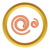 Parasitic nematode worms vector icon Stock Image