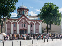 Paraskeva Church Calle de Didzioji, Vilna, imagen de archivo libre de regalías