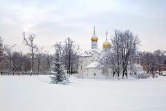 Paraskeva Church at the hem. Part of the Orthodox religious complex of the Trinity-Sergius Lavra Royalty Free Stock Photo