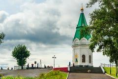Paraskeva Pyatnitsa Chapel i Krasnoyarsk Ryssland royaltyfri foto
