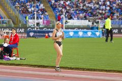 Paraskevi Papachristou. The representant of Greece at long jump on Diamond League in Rome, Italy in 2016 royalty free stock images