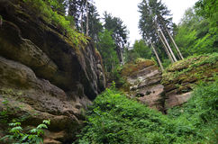 Paraíso boêmio, república checa Fotografia de Stock Royalty Free