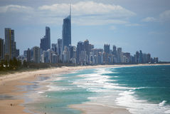 Paraíso Gold Coast Australia 2 de las personas que practica surf Fotografía de archivo libre de regalías