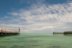 Paraíso polinesio tropical de la turquesa Imagen de archivo libre de regalías