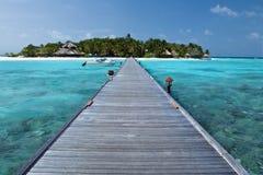 Paraíso tropical de Maldives - isla Fotos de archivo