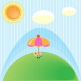 Parasol στον κόσμο Στοκ Εικόνες