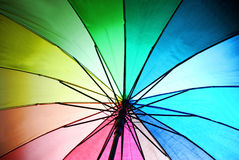 Parasol. Colored parasol in the sun Royalty Free Stock Photography