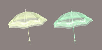 Parasol. Colorful isolated parasols for your artistic creations and/or projects Royalty Free Stock Image