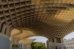 Parasol arquitectura de Sevilla, España de Metropol Fotografía de archivo