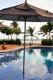 parasol basen Zdjęcia Royalty Free