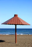 Parasol on Beach Royalty Free Stock Photos
