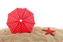 Parasol at the beach Stock Image