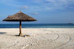 Parasol at beach. In Maldives Royalty Free Stock Photos