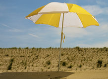 Parasol on the beach Royalty Free Stock Photos