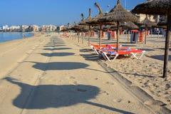 Parasol beach Royalty Free Stock Photography