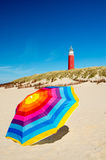 Parasol at the beach Royalty Free Stock Image