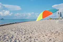 Parasol and beach Royalty Free Stock Photography