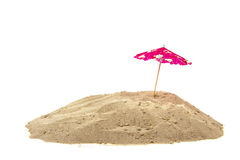 Parasol at the beach Stock Photos